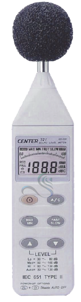 CENTER 321 SOUND LEVEL METER (PC Interface)